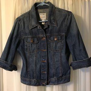 3/4 sleeve Jean jacket